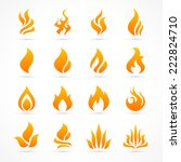 Fire Flame Icon Set In Vector...