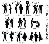human man character behaviour... | Shutterstock .eps vector #222830119