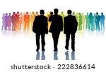 three black businessmen going...   Shutterstock .eps vector #222836614