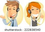 Постер, плакат: Costumer Service Call Center