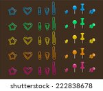 nine different types of pins... | Shutterstock .eps vector #222838678