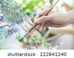 somebody is painting some... | Shutterstock . vector #222841240