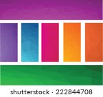 colorful polygonal mosaic...   Shutterstock .eps vector #222844708