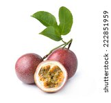 passion fruit isolated on white ... | Shutterstock . vector #222851959