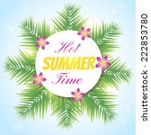 "nice banner with ""hot summer... 