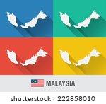 malaysia world map in flat...