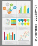 flat info graphics element set. ... | Shutterstock .eps vector #222859474