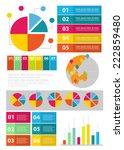 flat info graphics element set. ... | Shutterstock .eps vector #222859480