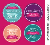 shopping design over pink... | Shutterstock .eps vector #222863590