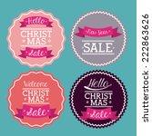 shopping design over blue... | Shutterstock .eps vector #222863626