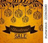 shopping design over yellow... | Shutterstock .eps vector #222863680