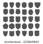 set of vintage frames for... | Shutterstock .eps vector #222865843