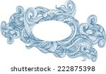 wave's ornamental frame  vector ... | Shutterstock .eps vector #222875398