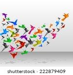 Origami Birds Flying Upwards...