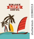 Surfing Graphic Design   Vector ...