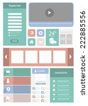 flat web user interface element ...