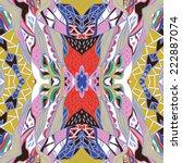 traditional ornamental paisley... | Shutterstock .eps vector #222887074