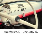 Old Vintage Car. Interiors View
