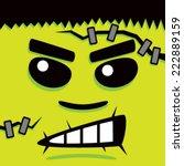 cartoon green frank face | Shutterstock .eps vector #222889159
