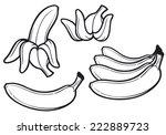 banana fruit  | Shutterstock .eps vector #222889723