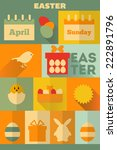 easter  retro labels collection ...