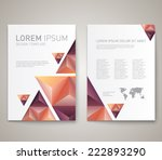 modern abstract brochure  flyer ... | Shutterstock .eps vector #222893290
