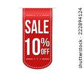 sale 10  off banner design over ... | Shutterstock .eps vector #222894124