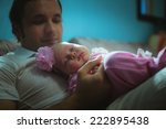 Image Of Young Dad With Cute...