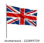 The British Flag Waving In The...