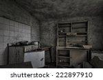 A Dark  Shabby Kitchen In A...