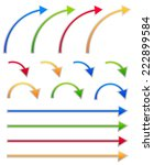 colorful arrow sets. straight... | Shutterstock .eps vector #222899584