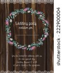 wedding card invitation with...   Shutterstock .eps vector #222900004