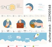 set of infographics elements... | Shutterstock .eps vector #222900568