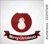 christmas design over color... | Shutterstock .eps vector #222907630