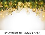 christmas tree decorations... | Shutterstock . vector #222917764