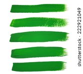 green ink vector brush strokes | Shutterstock .eps vector #222921049