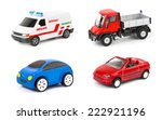 Stock photo set of cars isolated on white background 222921196