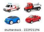 Stock photo set of cars isolated on white background 222921196
