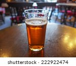 a pint of english ale beer in a ...   Shutterstock . vector #222922474