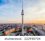 berlin city view with tv tower... | Shutterstock . vector #222930724