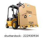 Forklift Truck With Boxes On...