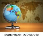 globe  with a political map on... | Shutterstock . vector #222930940