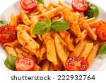 pasta with meat and vegetables | Shutterstock . vector #222932764