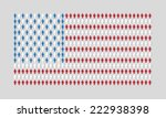 vector american flag with many...