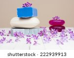soaps with lilac flowers on... | Shutterstock . vector #222939913