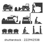 construction earthworks icons... | Shutterstock .eps vector #222942538