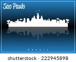 sao paulo  brazil skyline... | Shutterstock .eps vector #222945898