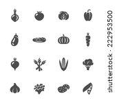 vegetables icon set | Shutterstock .eps vector #222953500