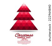 christmas tree greeting card ... | Shutterstock .eps vector #222964840