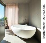 modern house  detail bathroom ... | Shutterstock . vector #222966436